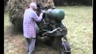 Russian Hay Tractor with Big Load  Pull Starter Motor  Sweet