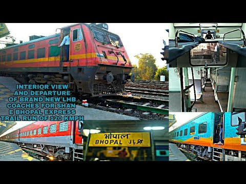 FULL COVERAGE OF 1ST LHB TRAIL RUN OF SHAN E BHOPAL EXPRESS..|| INTERIOR AND DEPARTURE WITH ET WAP4