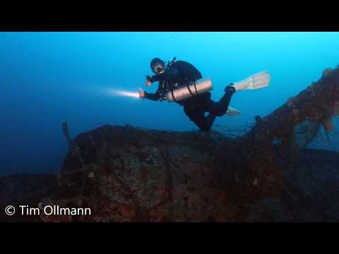 Wreck diving at the SS Rosa Vlassi Cargo Steamer