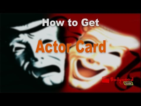 How to get Actor Card or Artist Card in Bollywood?
