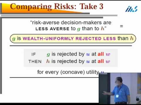Comparing and Measuring Risks - Sergiu Hart