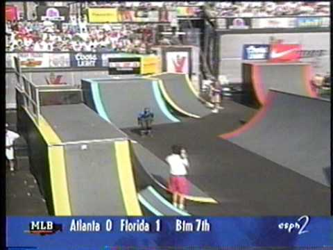 Chris Edwards - XGames 1996 Rollerblading Street Finals - 2nd Run