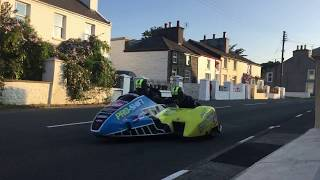 29.05.18 ISLE OF MAN TT Sidecar's Practice | Ballaugh  | Live Footage