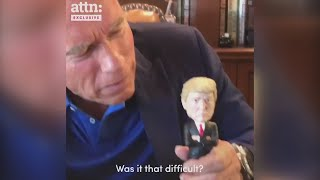 Arnie teaches Trump a lesson in combatting racism