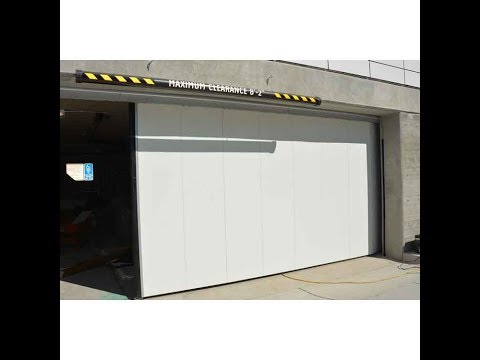Crown Industrial Projects: Round the corner slide-a-side Electrically Operated Doors