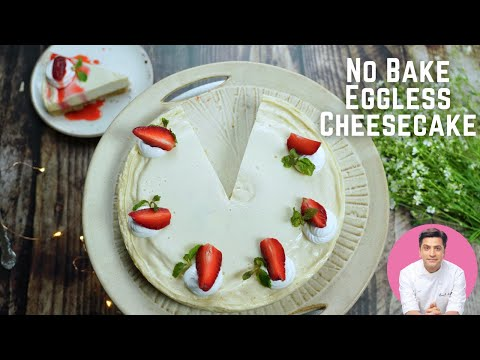 10 Min Cheesecake without Cheese in a Microwave | No-Bake Eggless Cheesecake | Kunal Kapur Recipes