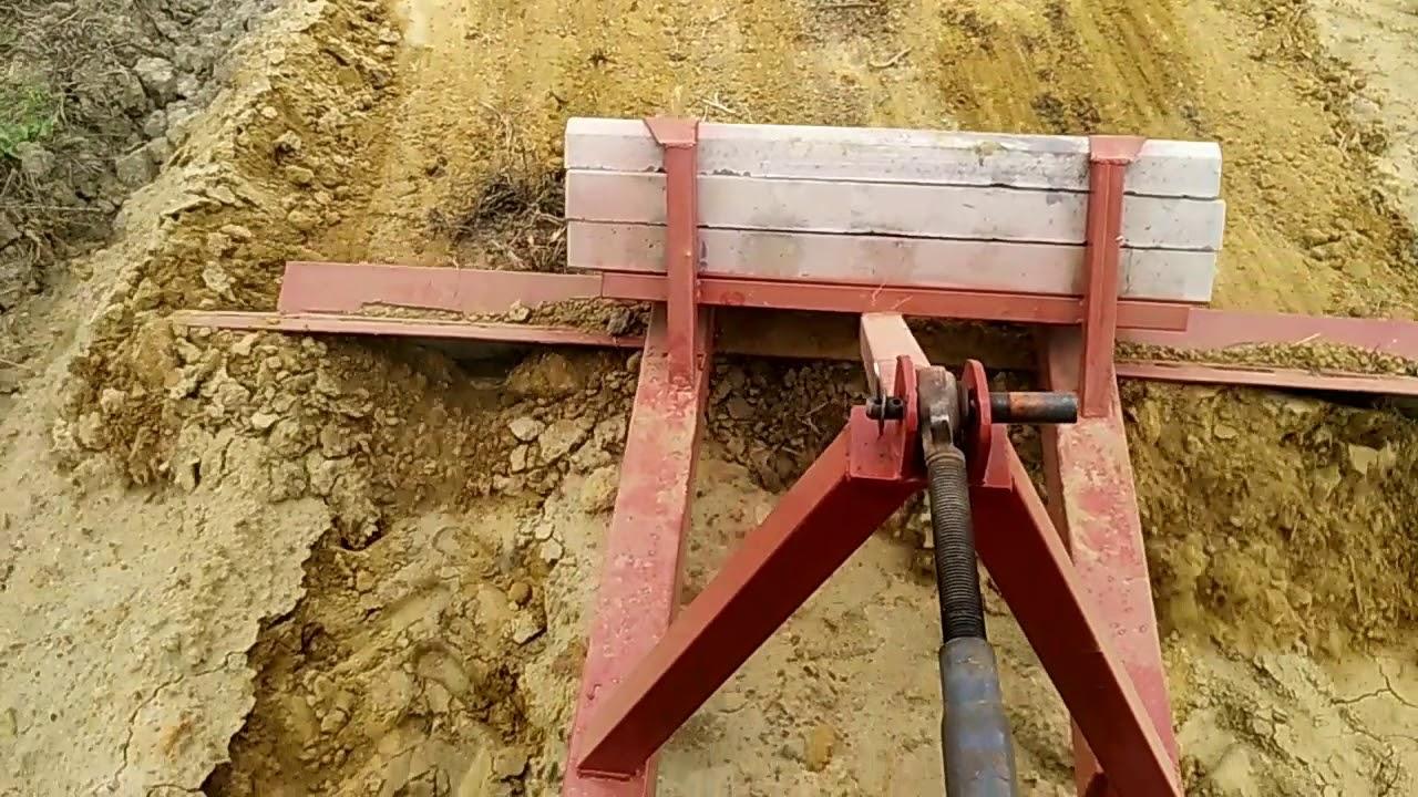 Ровняю землю, самодельный отвал (грейдер) на трактор