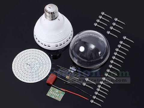 MONTA TU PROPIA LAMPARA DE DIODOS LED   ICSTATION DIY Energy Saving Lamp Kit 120pcs
