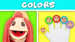Learn Colors with Finger Family Song - Nursery Rhymes for Kids