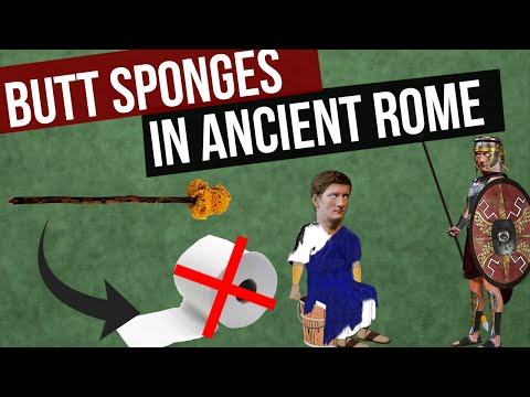 Did The Romans Really Swipe Their Backside With A Shared Sponge? |  Ancient Roman Toilet Paper