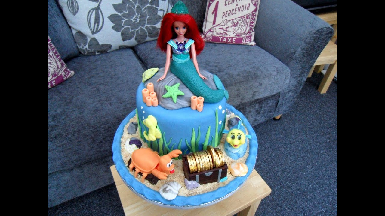 Evies 5th Birthday Cake Ariel the little Mermaid YouTube