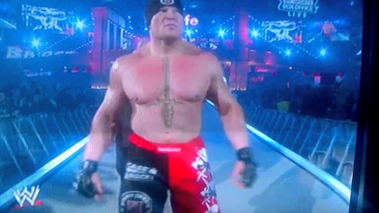 wrestlemania 29 entrance brock lesnar THIS IS REAL - YouTube