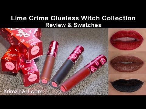 Lime Crime Clueless Witch Collection Review and Swatches - YouTube