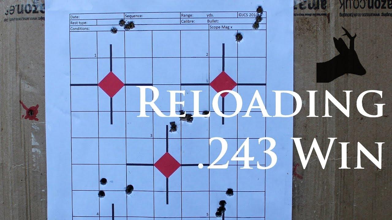 100gr bullet in  243Win - load development  Reloading for my deer hunting  rifle: RoeStalker