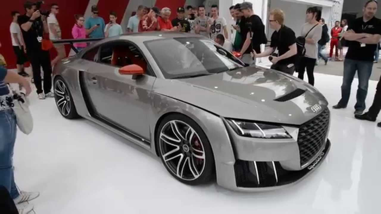 audi tt clubsport turbo concept throttles up on stand at worthersee 2015 youtube. Black Bedroom Furniture Sets. Home Design Ideas