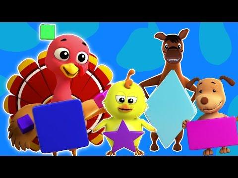 Forma canción | compilación 3D para niños | video educativo | aprender figuras | Learn Shapes