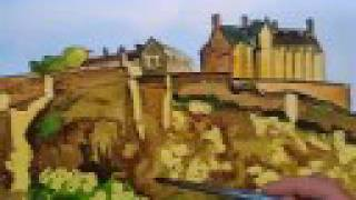 How to paint Edinburgh Castle using watercolor paint