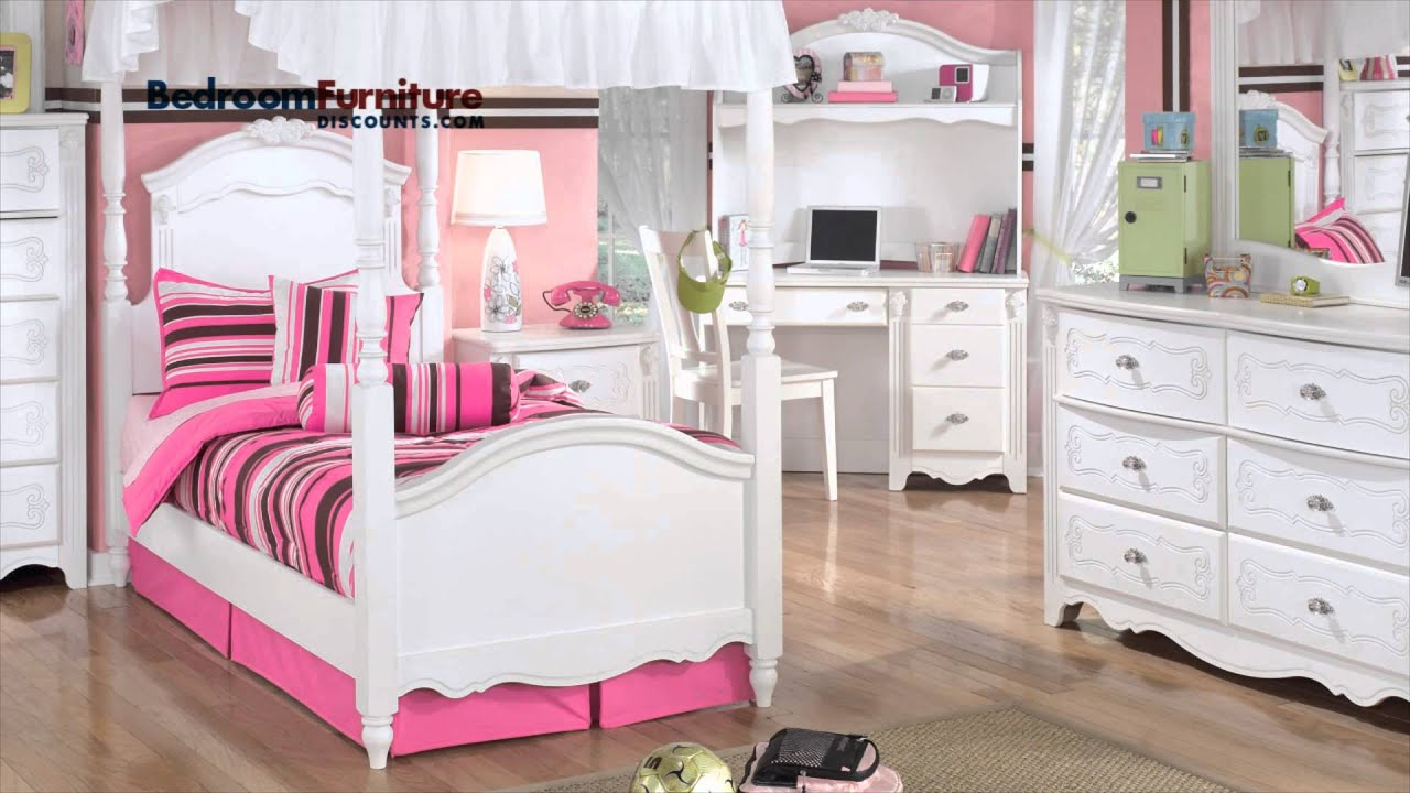 Ashley Exquisite Youth Canopy Bedroom Set - YouTube