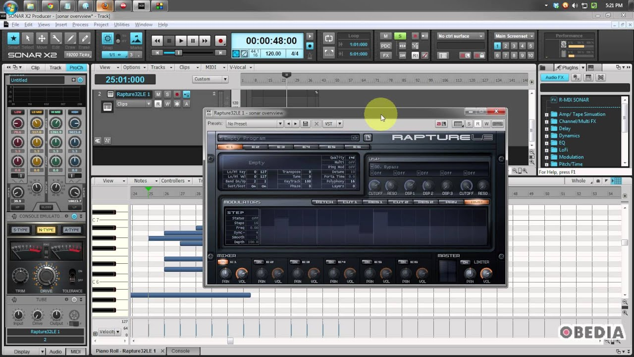 Cakewalk Sonar X2 Overview - YouTube