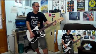 The Ramones - Cretin Hop - Guitar and Bass Cover
