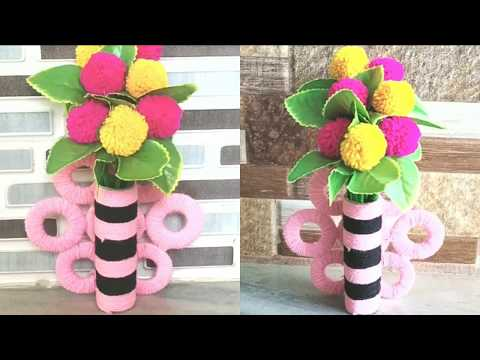 best-out-of-waste-tissue-paper-roll-|-easy-woolen-craft-idea-||-recycled-meterial-craft