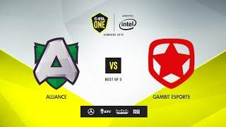 Alliance vs Gambit Esports, ESL One Hamburg 2019, bo3, game 3 [Ns \u0026 Lex]