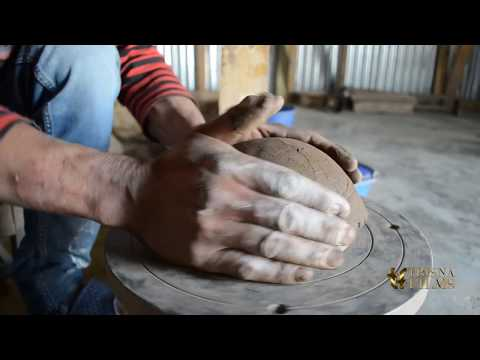 Pottery making by tribal people of North East India.