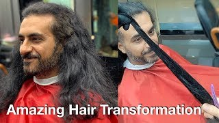 Amazing Long Hair Transformation   Curly Frizzy Hair
