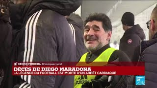 Décès de Diego Maradona : la légende du football est morte d'un arrêt cardiaque