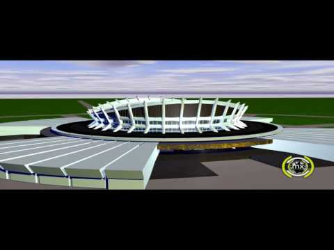 3D Visualization of National Theatre, Lagos, Nigeria