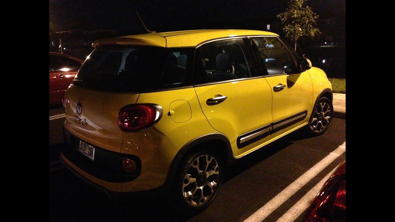 Fiat 500L Trekking in Yellow - 1st Day - YouTube