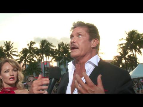 David Hasselhoff Baywatch Interview at Miami Premiere
