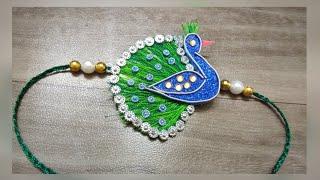 Best 2019 Peacock Rakhi Design Making /रक्षा बंधन पर बनाये मोरे राखी डिज़ाइन