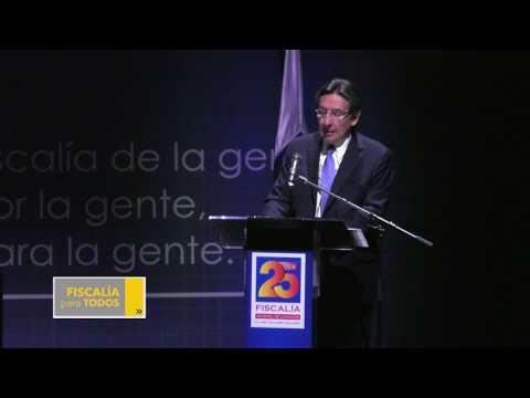 Palabras Fiscal General de la Nación en el acto de celebración de los 25 años de la Fiscalía