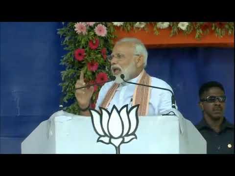 PM Shri Narendra Modi addresses public meeting in Himatnagar, Gujarat: 17.04.2019