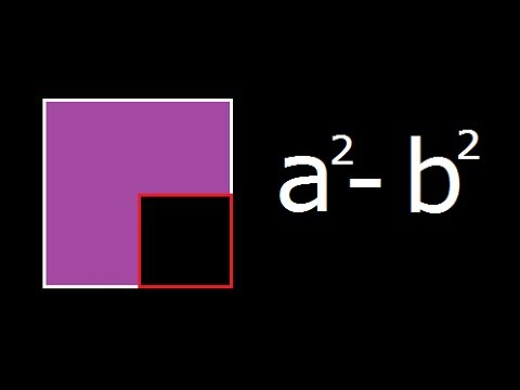 a square minus b square - a^2 - b^2 - Geometrical explanation and Derivation