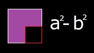 a square minus b square a 2 b 2 geometrical explanation and derivation
