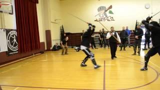 Fechtschule New York 2014 Josh Hawley (R) vs Charles Murdock (B)