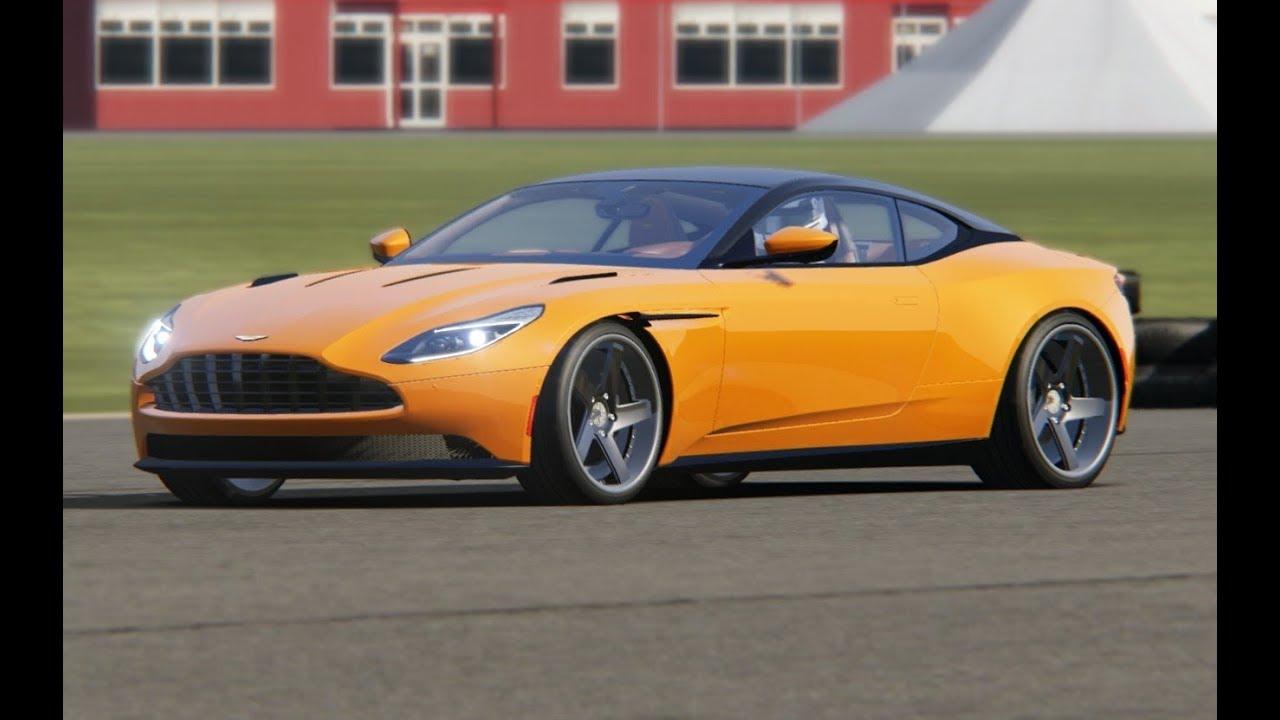 aston martin db11 tuned avant garde wheels at top gear testing