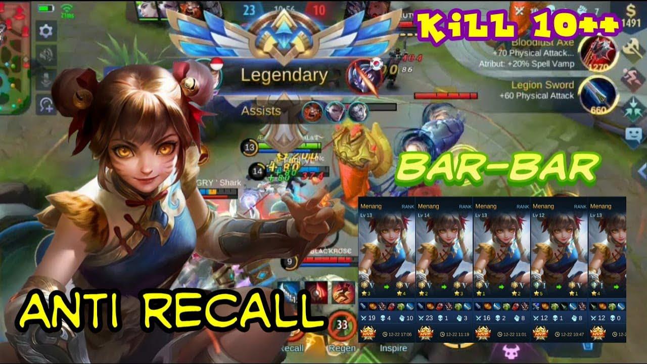 Anti RECALL || Gameplay MM WanWan Ter OP S15 Mobile legends