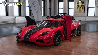 The Crew 2 Customization Koenigsegg Agera R + Test drive in the open world!