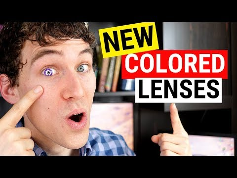 NEW Color Contact Lenses! - DAILIES Color Contact Lenses Review (Natural Looking)