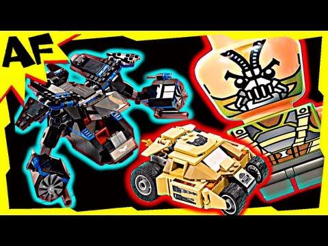 The BAT vs BANE TUMBLER CHASE 76001 Lego Batman DC Superheroes Stop Motion Build Review