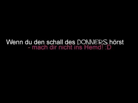 Ted - Der Donner Song - The Thunder Song (deutsch/german) lyrics