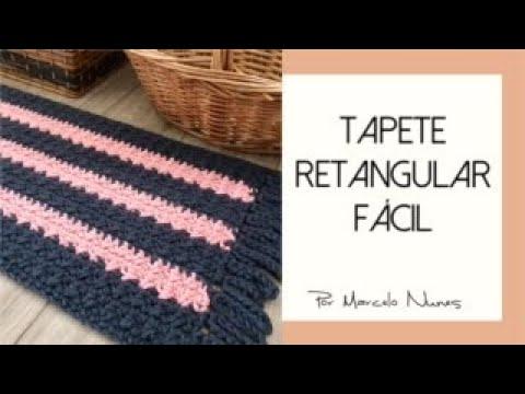 Tapete Retangular Fácil em Crochê por Marcelo Nunes
