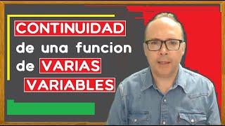 Continuidad de una función de varias variables