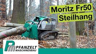 Pfanzelt Forstraupe Moritz Fr50 - Vorliefern im Steilhang