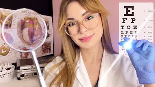 ASMR Orbital Eye Exam Detailed Realistic Medical Roleplay 👓 Glasses Fitting, Light Exam, Lens 1 OR 2