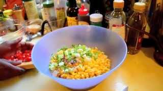 Corn Salad W/ Red Wine Vinaigrette
