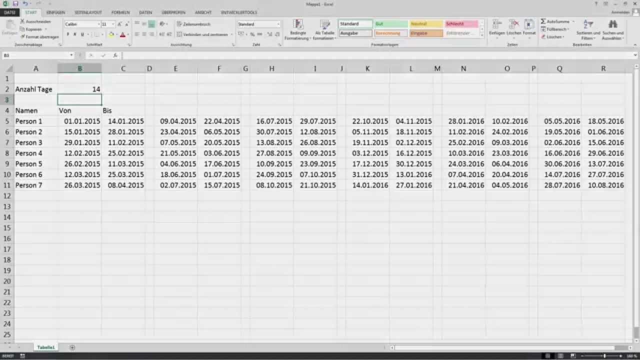 Flexibler Reinigungsplan Hausreinigung Excel Open Office Calc